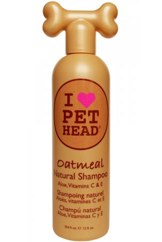 Frasco de Champô Pet Head Oatmeal com 354ml